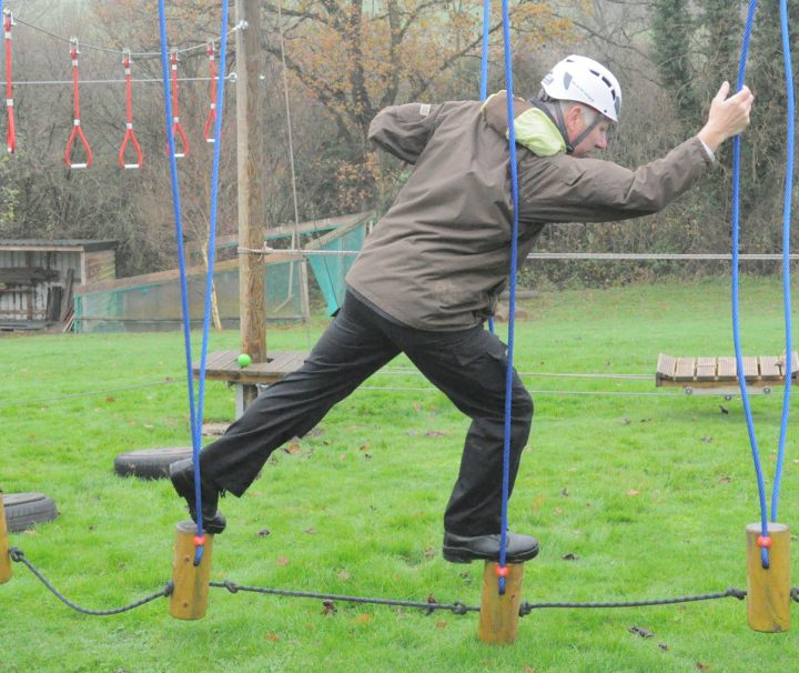 low level ropes course heading photo